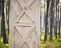 1a30800382 Drzwi dębowe BARN do systemów przesuwnych - zdjęcie od Rustykalne Uchwyty · Aranżacje  wnętrz - Garderoba  ...