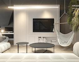 pokój gościnny | mKosiorowska | #25 - Mały szary czarny salon, styl nowoczesny - zdjęcie od mkosiorowska