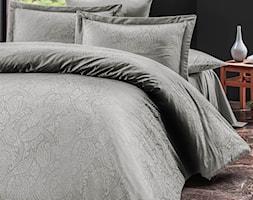 Pościel satyna bawełniana, kolekcja Luxury Premium, Sal Light Grey, Darymex - zdjęcie od Darymex - Homebook