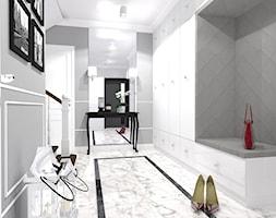 Dom w szarosciach - Średni szary hol / przedpokój, styl nowojorski - zdjęcie od Belleville home & living