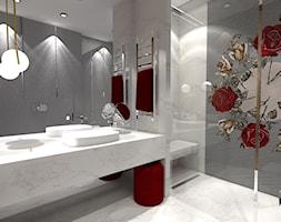 łazienka w czerwieni - zdjęcie od Belleville home & living