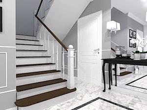 Dom w szarosciach - Schody, styl nowojorski - zdjęcie od Belleville home & living