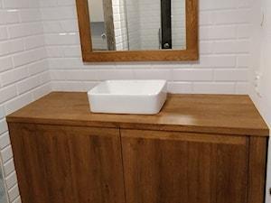 Drewniana szafka łazienkowa. - zdjęcie od NaLata - Meble Drewniane, Ariel Młotkowski