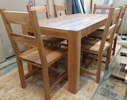 Stół dębowy z krzesłami - zdjęcie od NaLata - Meble Drewniane, Ariel Młotkowski