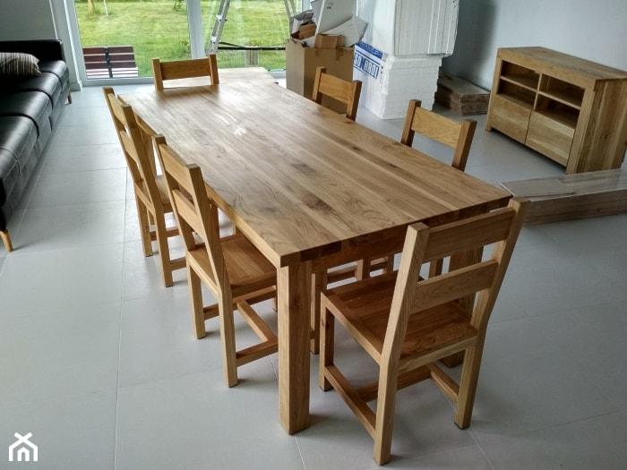 Stół Dębowy Z Krzesłami Zdjęcie Od Nalata Meble Drewniane Ariel