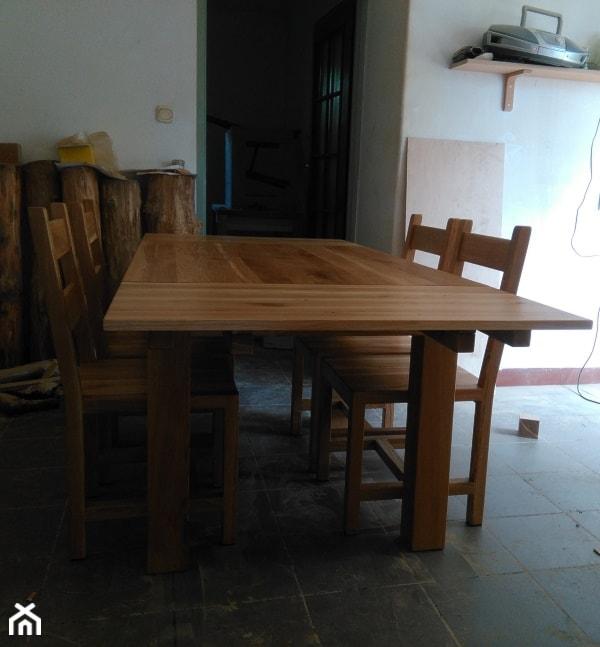 Stół Dębowy Z Dostawkami I Krzesła Zdjęcie Od Nalata Meble