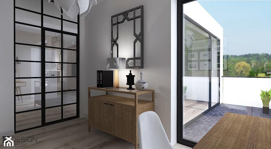 Aranżacje wnętrz - Biuro: Aranżacja mieszkania - Średnie szare biuro kącik do pracy, styl tradycyjny - IN DESIGN STUDIO . Przeglądaj, dodawaj i zapisuj najlepsze zdjęcia, pomysły i inspiracje designerskie. W bazie mamy już prawie milion fotografii!