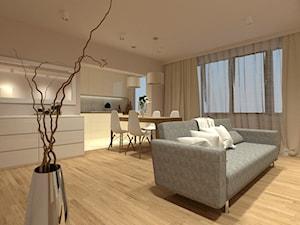 Projekt wnętrza mieszkania w bloku z wielkiej płyty
