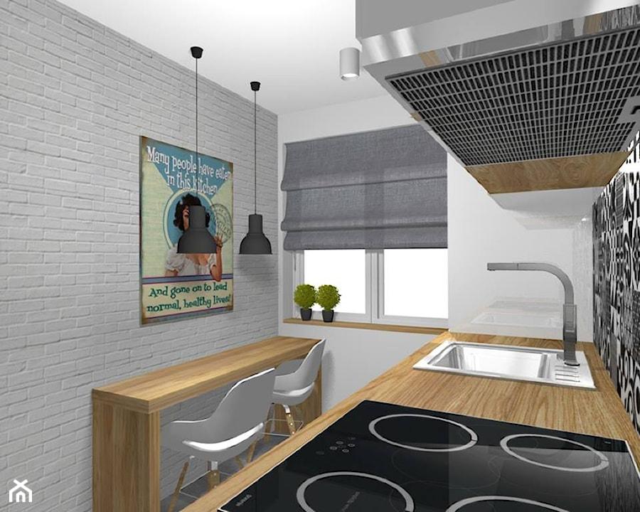 Projekt metamorfozy 43 metrowego mieszkania w bloku z wielkiej płyty  zdjęci
