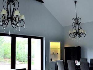 Projekt wnętrza salonu w domu jednorodzinnym w Zielęcicach