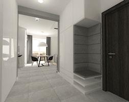 mieszkanie w bloku - Średni biały szary hol / przedpokój - zdjęcie od Am Design Studio projektowania wnętrz
