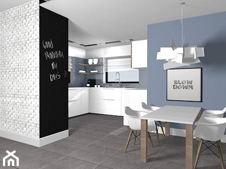 Aranżacje wnętrz - Kuchnia: Projekt kuchni w domu jednorodzinnym w Ostrowie koło Łasku - Am Design Studio projektowania wnętrz. Przeglądaj, dodawaj i zapisuj najlepsze zdjęcia, pomysły i inspiracje designerskie. W bazie mamy już prawie milion fotografii!
