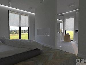 Sypialnia z otwartą łazienką