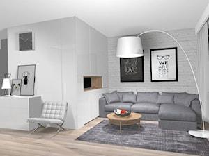 Projekt wnętrza mieszkania 43 m2 Łódź Retkinia