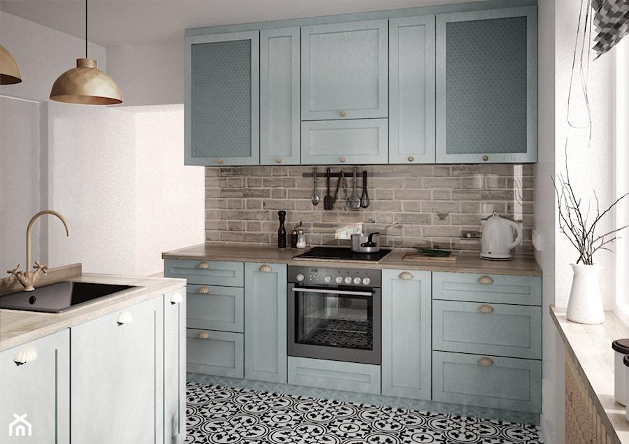 Mieszkanie Z Dodatkiem Cegły średnia Otwarta Biała Kuchnia
