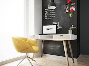 pokój chłopca, Białystok - Mały biały czarny pokój dziecka dla chłopca dla ucznia dla malucha dla nastolatka, styl nowoczesny - zdjęcie od JUST studio projektowe