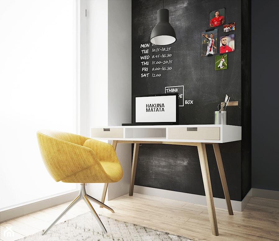 pokój chłopca #1, Białystok - Mały biały czarny pokój dziecka dla chłopca dla ucznia dla malucha dla nastolatka, styl nowoczesny - zdjęcie od JUST studio projektowe