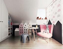 pokój dziewczynki, Guernsey - Mały biały czarny pokój dziecka dla chłopca dla dziewczynki dla malucha dla nastolatka, styl nowoczesny - zdjęcie od JUST studio projektowe