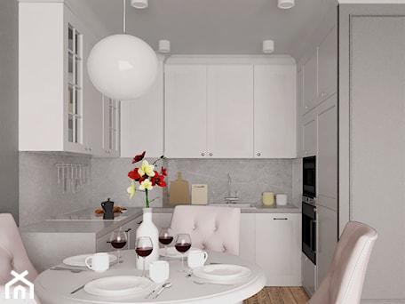Aranżacje wnętrz - Kuchnia: mieszkanie #18, Białystok - Kuchnia, styl klasyczny - JUST studio projektowe. Przeglądaj, dodawaj i zapisuj najlepsze zdjęcia, pomysły i inspiracje designerskie. W bazie mamy już prawie milion fotografii!
