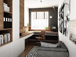 mieszkanie #2, Białystok - Średnie kolorowe biuro domowe w pokoju, styl nowoczesny - zdjęcie od JUST studio projektowe