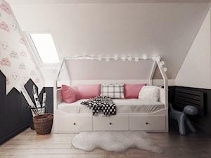 pokój dziewczynki, Guernsey - Mały szary czarny pokój dziecka dla dziewczynki dla malucha, styl nowoczesny - zdjęcie od JUST studio projektowe