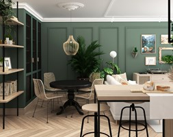 mieszkanie #21 - Jadalnia, styl eklektyczny - zdjęcie od JUST studio projektowe - Homebook