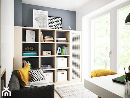 pokój chłopca, Białystok - Mały biały szary pokój dziecka dla chłopca dla dziewczynki dla ucznia dla nastolatka, styl nowoczesny - zdjęcie od JUST studio projektowe