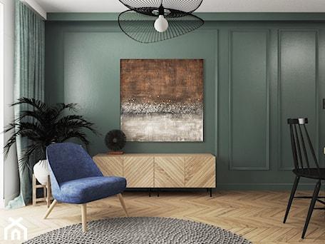 Aranżacje wnętrz - Salon: mieszkanie #15, Białystok - Średni szary zielony salon, styl eklektyczny - JUST studio projektowe. Przeglądaj, dodawaj i zapisuj najlepsze zdjęcia, pomysły i inspiracje designerskie. W bazie mamy już prawie milion fotografii!