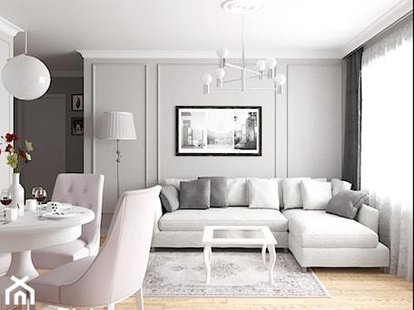 Aranżacje wnętrz - Salon: mieszkanie #18, Białystok - Salon, styl klasyczny - JUST studio projektowe. Przeglądaj, dodawaj i zapisuj najlepsze zdjęcia, pomysły i inspiracje designerskie. W bazie mamy już prawie milion fotografii!