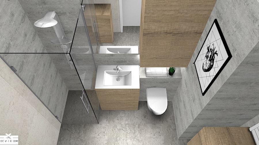 łazienka Beton Jasne Drewno Zdjęcie Od Domi Decor Homebook