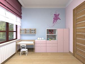 Mieszkanie w Warszawie 113m2 - Średni różowy niebieski pokój dziecka dla dziewczynki dla malucha - zdjęcie od Medyńscy Projektowanie