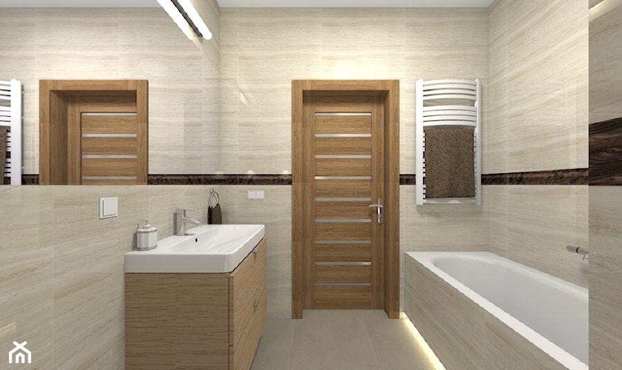 Mieszkanie w Warszawie 113m2 - Średnia łazienka w bloku w domu jednorodzinnym bez okna - zdjęcie od Medyńscy Projektowanie