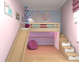 Mieszkanie w Warszawie 113m2 - Mały różowy niebieski pokój dziecka dla chłopca dla dziewczynki dla malucha dla nastolatka - zdjęcie od Medyńscy Projektowanie