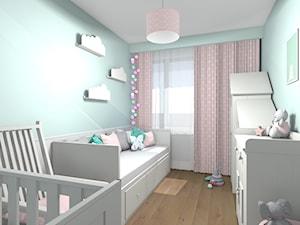 Mieszkanie 94m2 Warszawa-Wilanów - Mały niebieski pokój dziecka dla chłopca dla dziewczynki dla niemowlaka, styl nowoczesny - zdjęcie od Medyńscy Projektowanie