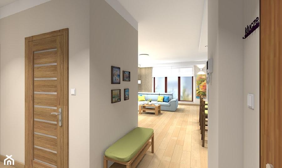 Mieszkanie w Warszawie 113m2 - Średni szary hol / przedpokój - zdjęcie od Medyńscy Projektowanie