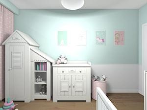 Mieszkanie 94m2 Warszawa-Wilanów - Średni biały niebieski pokój dziecka dla chłopca dla dziewczynki dla niemowlaka, styl nowoczesny - zdjęcie od Medyńscy Projektowanie