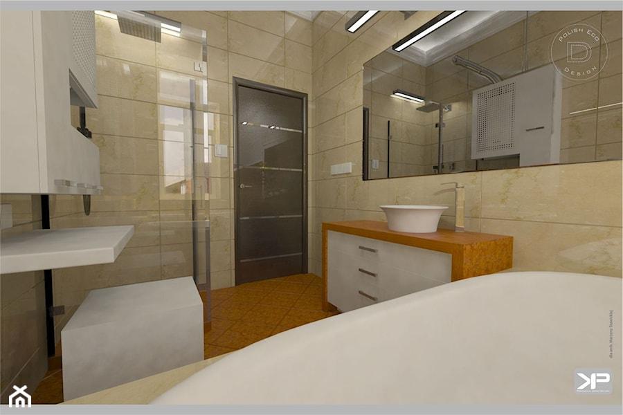 Łazienka prywatna z wanną i prysznicem - zdjęcie od KP Produkcja Archi-Tektury