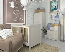 Projekty koncepcyjne - Mały kolorowy pokój dziecka dla chłopca dla niemowlaka, styl klasyczny - zdjęcie od Ko. autorska pracownia wnętrz Katarzyna Anna Kowalik