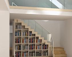 projekt schodów w salonie - zdjęcie od Karolina Wolska - pracownia architektoniczna - Homebook