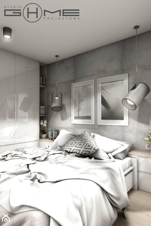 Projekt Mieszkania 62m2 - Warszawa Bemowo - Sypialnia, styl nowoczesny - zdjęcie od GoHome