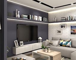 Projekt Mieszkania 86m2 - Warszawa Ursynów - Salon, styl nowoczesny - zdjęcie od GoHome - Homebook