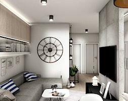 Projekt Mieszkania 62m2 - Warszawa Bemowo - Salon, styl nowoczesny - zdjęcie od GoHome - Homebook