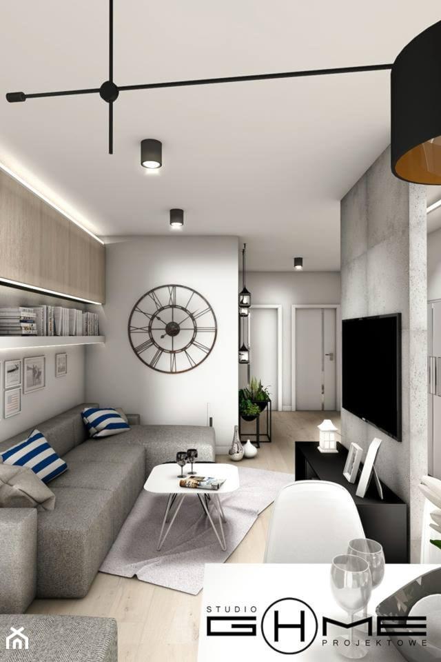Projekt Mieszkania 62m2 - Warszawa Bemowo - Salon, styl nowoczesny - zdjęcie od GoHome
