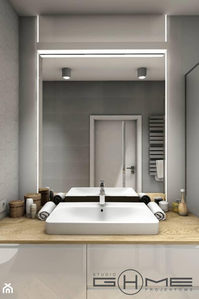 Projekt Mieszkania 62m2 - Warszawa Bemowo - Łazienka, styl nowoczesny - zdjęcie od GoHome