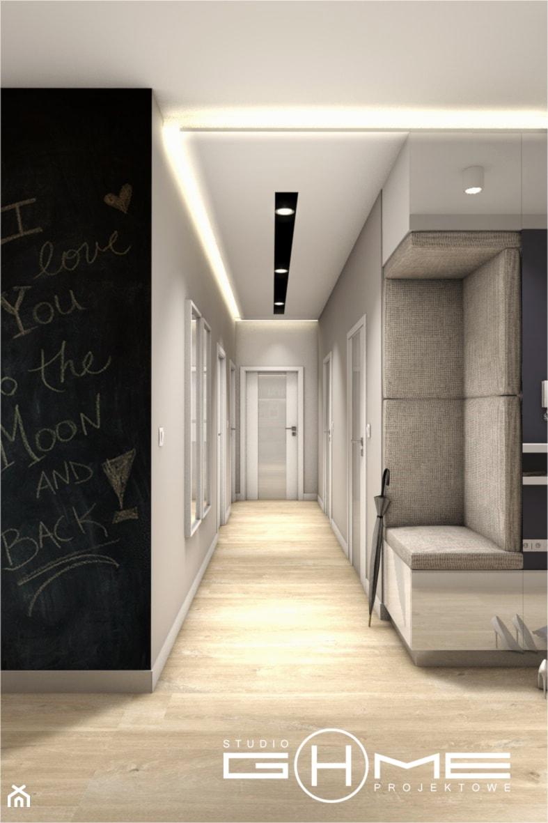 Projekt Mieszkania 86m2 - Warszawa Ursynów - Hol / przedpokój, styl nowoczesny - zdjęcie od GoHome