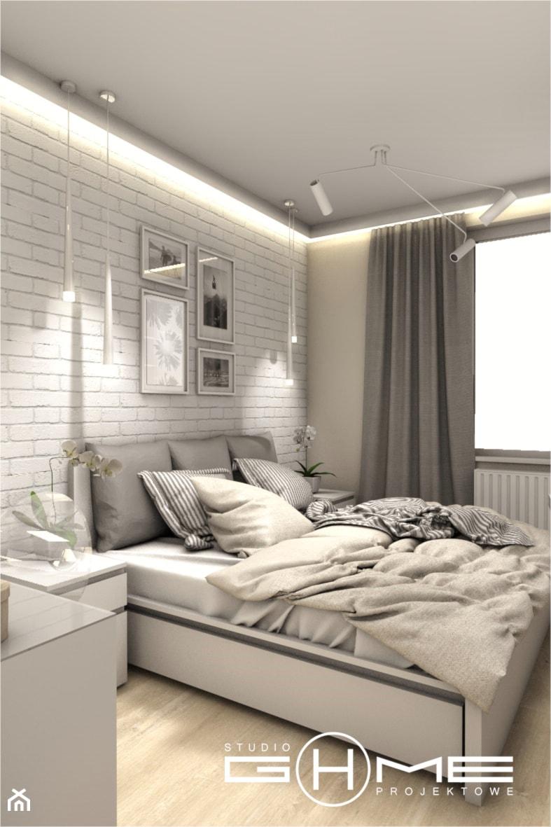 Projekt Mieszkania 86m2 - Warszawa Ursynów - Sypialnia, styl nowoczesny - zdjęcie od GoHome