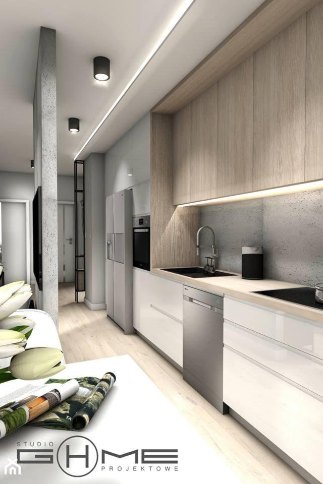 Projekt Mieszkania 62m2 - Warszawa Bemowo - Kuchnia, styl nowoczesny - zdjęcie od GoHome