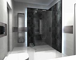 Łazienka 6 - Średnia biała szara łazienka na poddaszu w bloku w domu jednorodzinnym bez okna, styl ... - zdjęcie od Salon Łazienek JACEK - Homebook