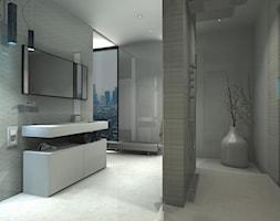 Łazienka 7 - Duża szara łazienka na poddaszu w bloku w domu jednorodzinnym z oknem, styl klasyczny - zdjęcie od Salon Łazienek JACEK - Homebook