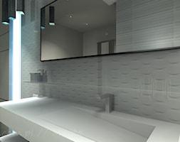 Łazienka 7 - Mała biała łazienka na poddaszu w bloku w domu jednorodzinnym bez okna, styl klasyczny - zdjęcie od Salon Łazienek JACEK - Homebook
